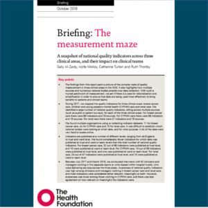 The Measurement Maze: national quality indicators in the NHS